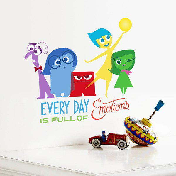 Good Quality Colorful Cartoon Character Letter Pattern Removeable Wall Sticker - COLORMIX