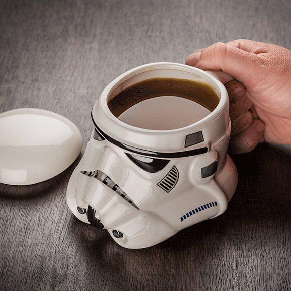 Creative 300ml Star Wars Stormtrooper Helmet Mug Coffee Tea Cup - WHITE