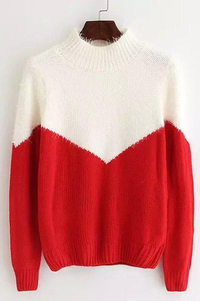 Casual Women's Round Collar Long Sleeves Sweater - RED ONE SIZE(FIT SIZE XS TO M)