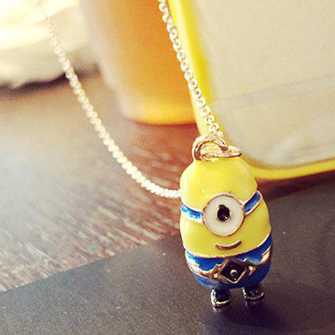 Chic Minions Shape Pendant Sweater Chain For Women - YELLOW