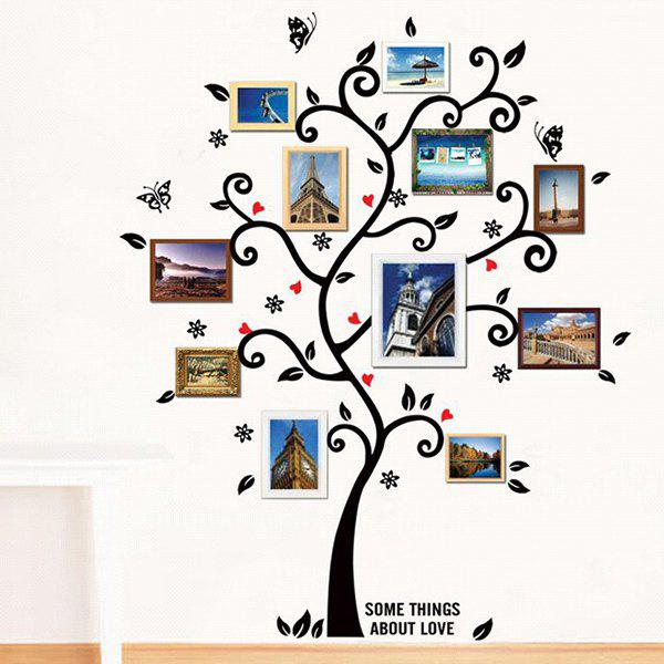 Photo Frame Removeable Decorative Background Wall Sticker - BLACK