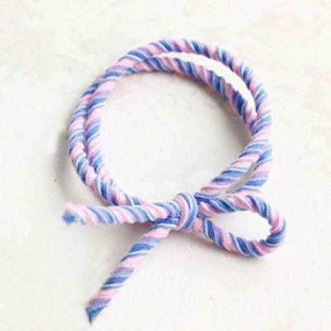 Cute Bowknot Double-Layer Elastic Hair Band For Women - PURPLE