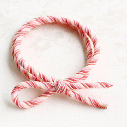 Cute Bowknot Double-Layer Elastic Hair Band For Women - PINK