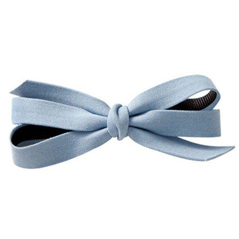 Trendy Solid Color Cloth Bowknot Hairgrip For Women