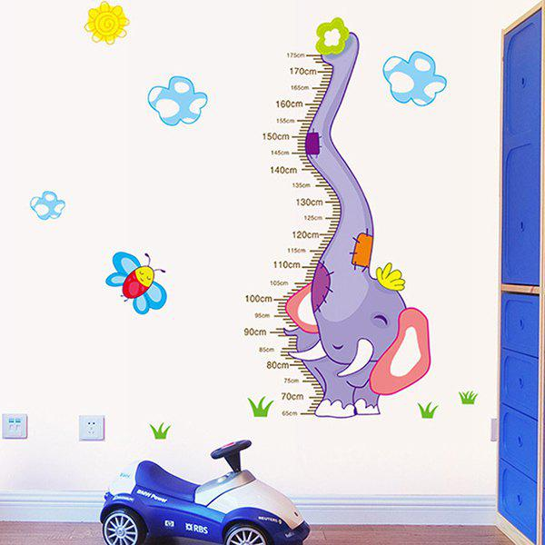 Good Quality Cartoon Elephant Pattern Removeable Height Wall Sticker - COLORMIX