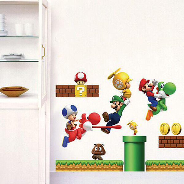 High Quality Cartoon Game Theme Waterproof Decorative Wall Sticker - COLORMIX