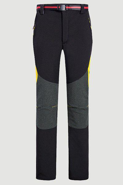 Water-Repellent Fleeces Snow Pants For Women - BLACK 2XL