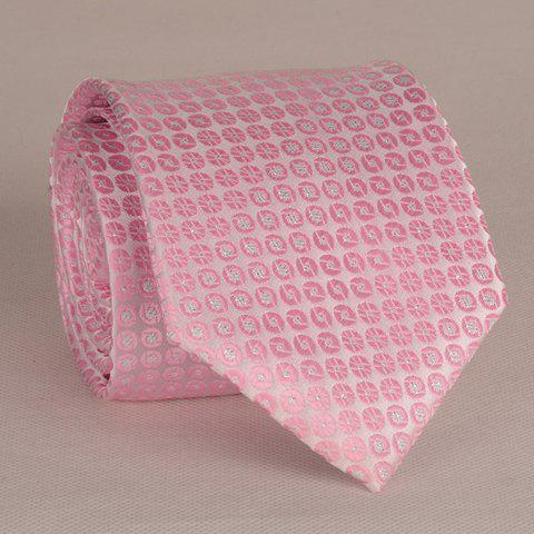 Fashionable Small Round Dots Pattern 8CM Width Pink Men's Tie - PINK