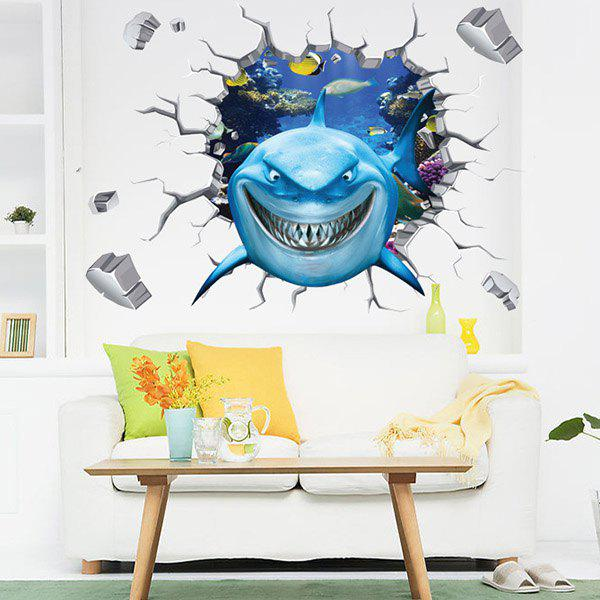 High Quality Colorful Shark Pattern Removeable Waterproof 3D Wall Sticker