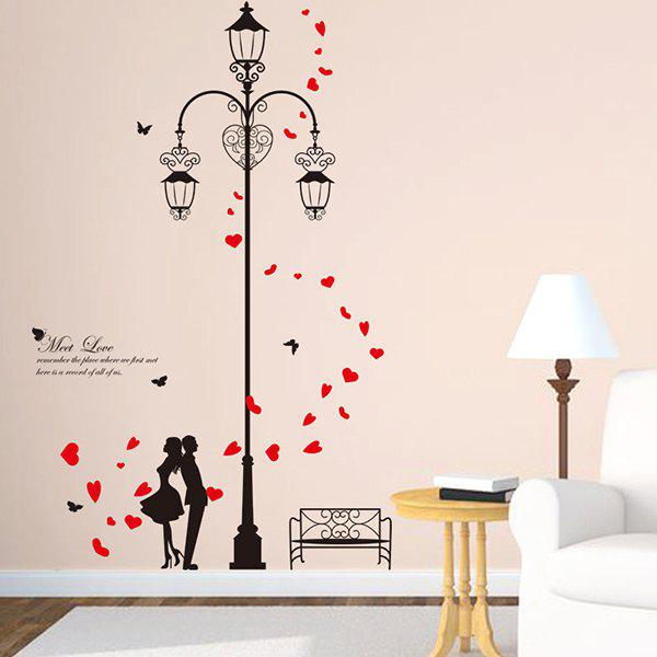 High Quality DIY Lover Light Pattern Removeable Waterproof Wall Sticker - COLORMIX