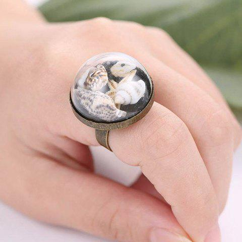 Glass Cover Sea Snail Ring - BRONZE COLORED ONE-SIZE
