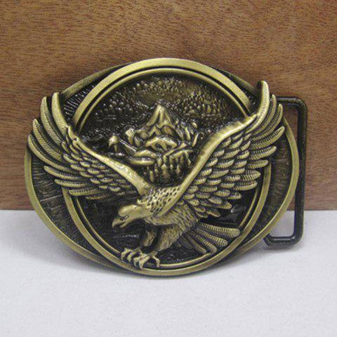Stylish Flying Eagle Shape Embellished Belt Buckle For Men - BRONZE