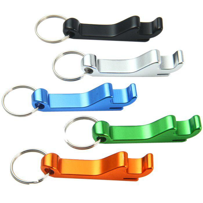 502 Aluminum Alloy Bottle Opener + Stainless Steel Keyring - RANDOM COLOR 2PCS