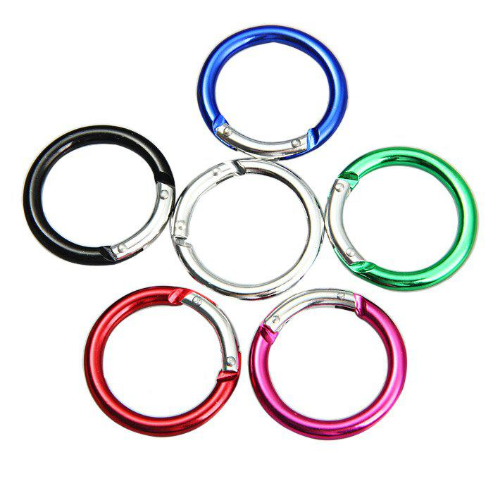 Small Round Carabiner Aluminum Alloy Made ryder anodizing aluminum alloy screw lock carabiner blue 7mm
