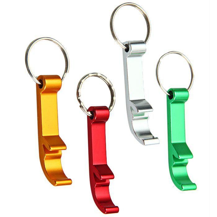 501 5.5cm Aluminum Alloy Bottle Opener + Stainless Steel Keyring