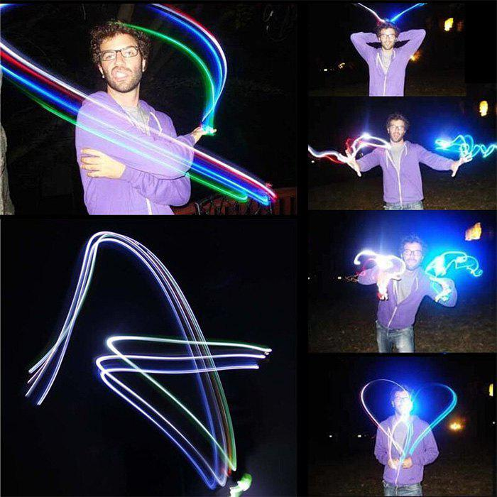 4 x LED Colorful Ring Finger Light Toy Great Gift for Children - AS THE PICTURE