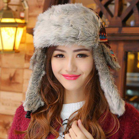 Chic Christmas Snowflake Pattern Thicken Trapper Hat For Women - COLORMIX