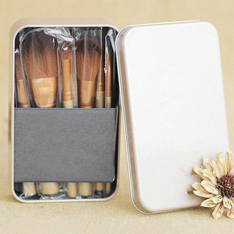 12 Pcs Professional Fiber Makeup Brushes Set with Iron Box