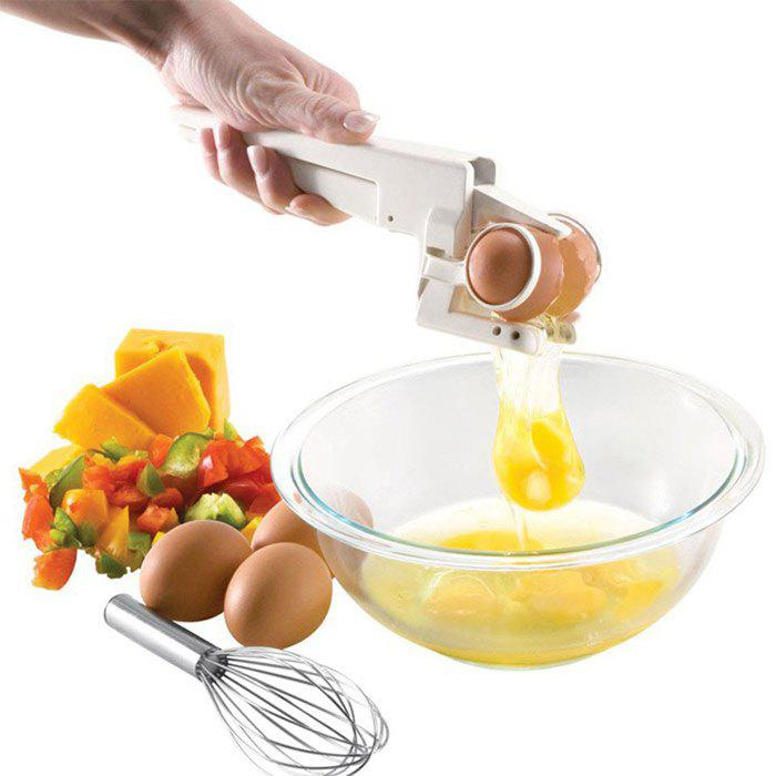Practical Egg Cracker Handheld Seperator Kitchen Gadget