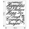 New 58*186cm Letters Love Live Hope Wall Stickers For Homes - BLACK