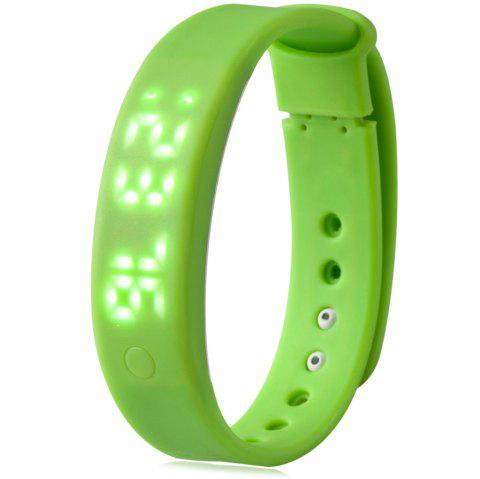 A6 Smart Wristband Pedometer Watch Sleep Monitor Alarm Time - GREEN