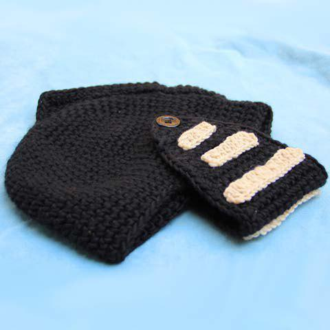 Stylish Stripy and Button Embellished Men's Knight Knitted Hat - RANDOM COLOR