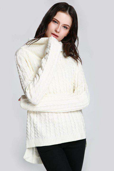 Cable Open Back Sweater - WHITE ONE SIZE(FIT SIZE XS TO M)