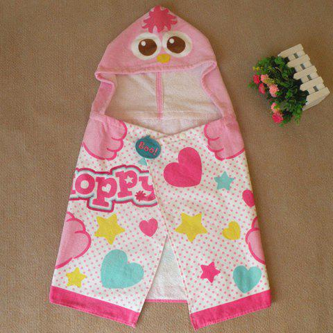 Cute Sesame Street Pink Moppy Design Cotton Cloak Kid's Hooded Towel