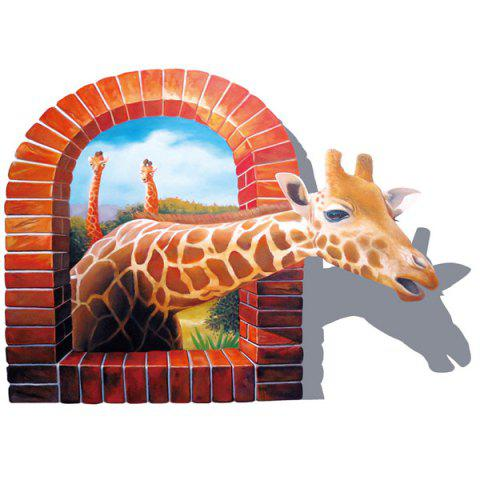 Removable 3D Giraffe Animal Wall Sticker For Home Decor - COLORMIX