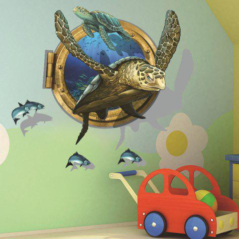 Creative Sea Turtle Pattern 3D Wall Sticker For Home Decor - COLORMIX