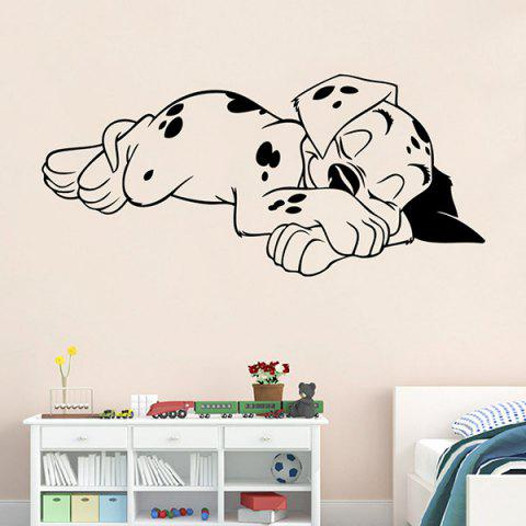 Sweet Sleeping Dog Solid Color Wall Paper For Home Decor - BLACK