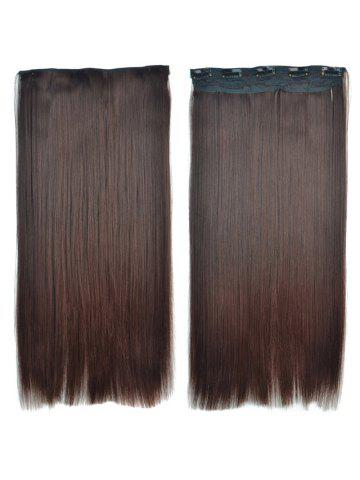 Hair extensions cheap best hair extensions for women online sale attractive brown gradient synthetic fashion long glossy straight womens clip in hair extension pmusecretfo Choice Image