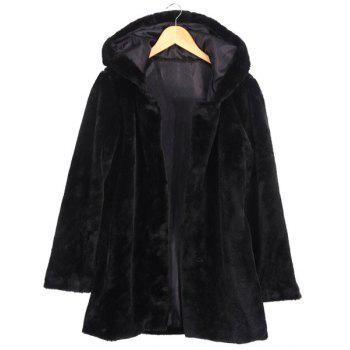 Gorgeous Hooded Solid Color Long Sleeve Coat For Women