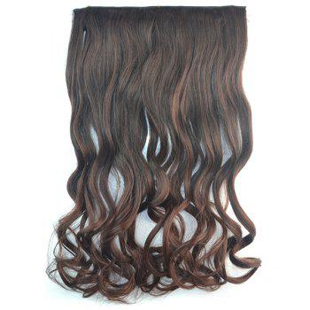 Shaggy Curly Synthetic Fashion Long Brown Ombre Graceful Clip In Women's Hair Extension - COLORMIX COLORMIX
