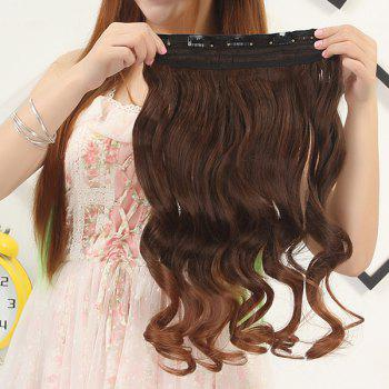 Fluffy Curly Capless Fashion Clip In Synthetic Stunning Long Ombre Women's Hair Extension - OMBRE