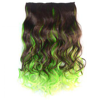 Fluffy Curly Fashion Mixed Color Synthetic Attractive Long Clip In Hair Extension For Women
