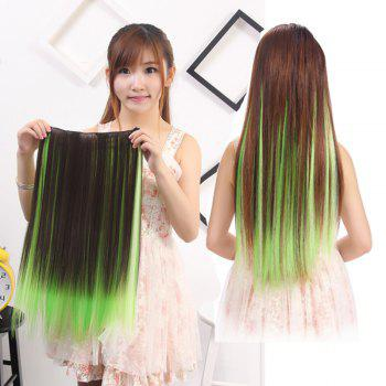 Charming Silky Straight Synthetic Clip-In Vogue Long Three Color Ombre Women's Hair Extension