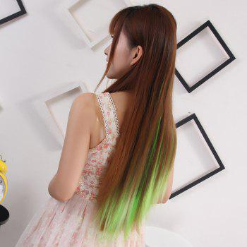 Charming Silky Straight Synthetic Clip-In Vogue Long Three Color Ombre Women's Hair Extension -  OMBRE