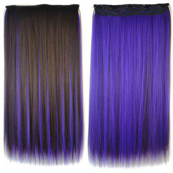 Fashion Silky Straight Purple Highlight Stunning Long Clip In Synthetic Women's Hair Extension - COLORMIX COLORMIX