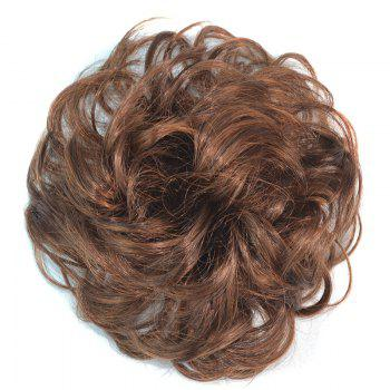 Attractive Fluffy Curly Vogue Heat Resistant Fiber Women's Chignons - BROWN 2M3
