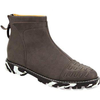 Simple Stitching and Solid Colour Design Boots For Men