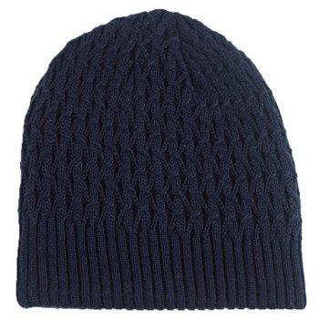 Stylish Solid Color Crochet Knitted Beanie For Men