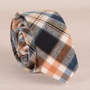 Stylish Plaid Pattern 5CM Width Color Matching Men's Tie - ORANGE ORANGE