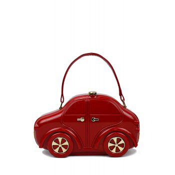 Trendy Car Shape and Metal Design Women's Evening Bag