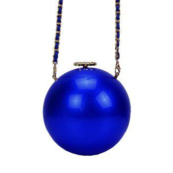Stylish Pearl Shape and Solid Color Design Women's Evening Bag