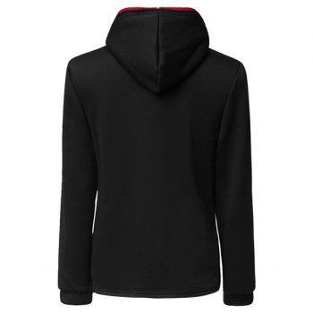 Trendy Long Sleeves Hooded Personality Inclined Zipper Design Slimming Solid Color Men's Cotton Blend Hoodies - M M