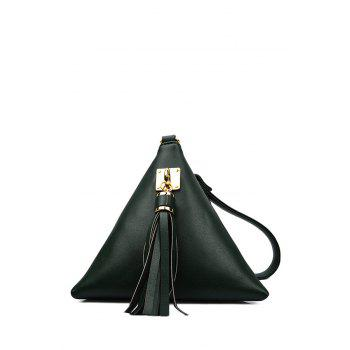 Stylish Triangle Shape and Tassel Design Women's Clutch Bag - GREEN GREEN