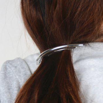 Faddish Solid Color Mirror Side Hairgrip For Women - SILVER