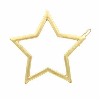 Faddish Solid Color Hollow Out Star Shape Hairgrip For Women - GOLDEN GOLDEN