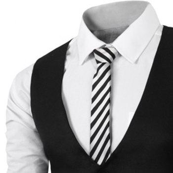 Simple Style V Neck Fake Belt Sleeveless Men's Waistcoat - XL XL